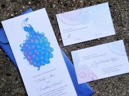 Pávás meghívó 2, Peacock wedding invitation 2 Forrás:http://www.etsy.com