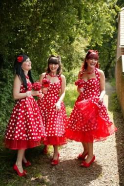 Pöttyös koszorúslány ruha 3 / Polka dot bridesmaid dresses 3