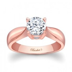 Rózsaszín arany eljegyzési gyűrű 4 / Rose gold engagement ring 4 Forrás:http://www.barkevs.com