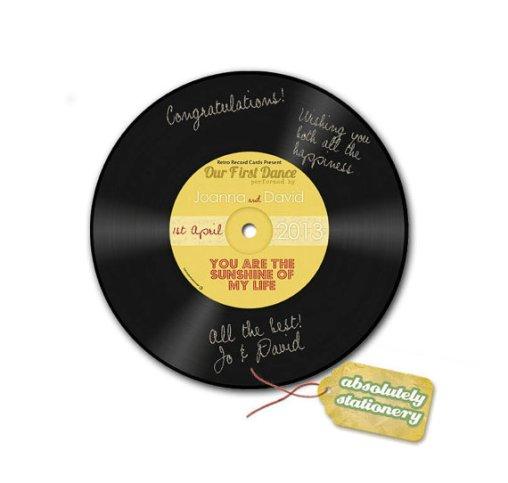 Retro lemez esküvői vendégkönyv , Retro record wedding guest book alternative Forrás:http://www.etsy.com