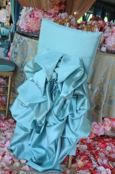 Türkiz dekoráció / Turquoise decoration Forrás:http://www.weddingsromantique.com