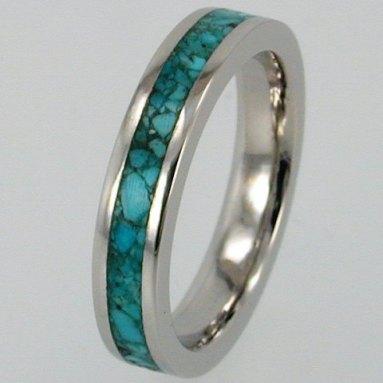 Türkiz palládium gyűrű , Turquoise palladium wedding ring Forrás:http://www.etsy.com