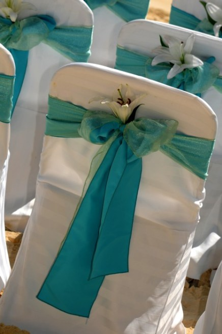 Türkiz dekoráció 4 / Turquoise decoration 4 Forrá:http://www.weddinginbali.com
