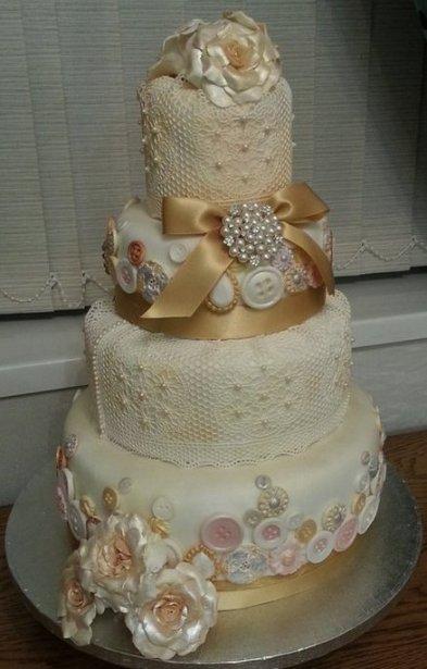 Vintázs menyasszonyi torta 2 / Vintage wedding cake 2 Forrás:http://cakesdecor.com