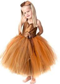 Barna tütü virágszirom szóró lányka ruha ,Brown tutu flower girl dress Forrás:http://www.etsy.com/