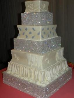 Csillogó menyasszonyi torta , Glitter wedding cake Forrás:http://prinmontreal.blogspot.hu/