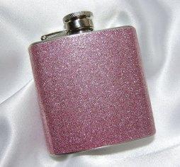 Csillogó rózsaszín flaska , Pink glitter flask Forrás:http://www.etsy.com/