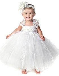 Fehér tütü virágszirom szóró lányka ruha 2 ,White tutu flower girl dress 2 Forrás:http://www.etsy.com/
