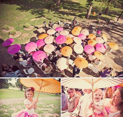Rizspapír napernyő köszönetajándék ,Paper parasols wedding favors Forrás:www.etsy.com