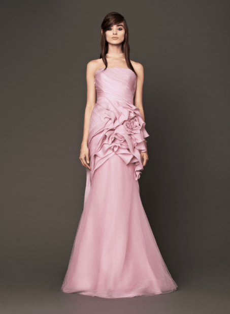 Vera Wang 2014 Fall Pink bridal collection Forrás:http://www.verawang.com