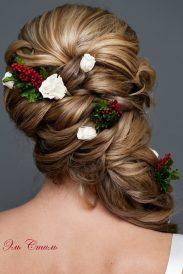 Fonott menyasszonyi frizura 12 , Bridal hair braids 12 Forrás:www.elstile.ru