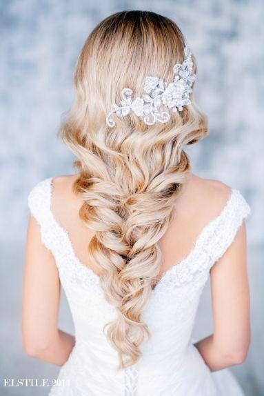 Fonott menyasszonyi frizura 16 Bridal hair braids 16 www.elstile.ru