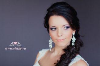 Fonott menyasszonyi frizura 18 Bridal hair braids 18 www.elstile.ru