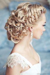 Fonott menyasszonyi frizura 7 , Bridal hair braids 7 Forrás:www.elstile.ru