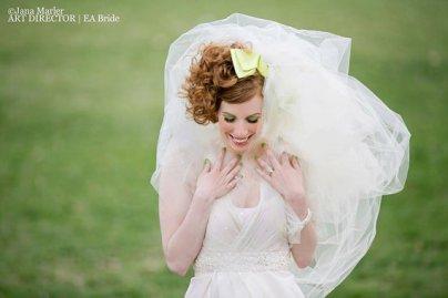 Menyasszonyi frizura buborék fátyollal 20 , Bridal hairstyles with bubble veil 20 Forrás:http://www.etsy.com