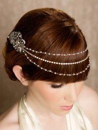 Menyasszonyi frizura ,hosszú barna hajból 15, Bridal long brown hair 15 Forrás:http://www.etsy.com