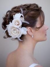 Menyasszonyi frizura ,hosszú barna hajból 8 Bridal long brown hair 8 http://www.haircomesthebride.com