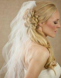 Menyasszonyi frizura tüll spirál fátyollal 8, Bridal hairstyles with spiral curls veil 8 Forrás:http://www.etsy.com