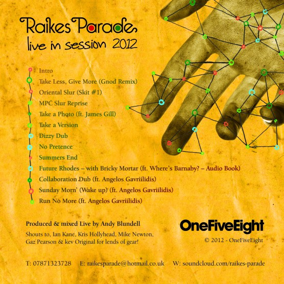 Raikes Pardade live in session 2012 track list