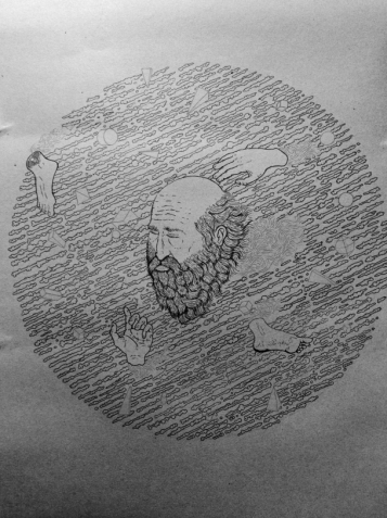 The first drawing - Falling Through Noise - James Hayes