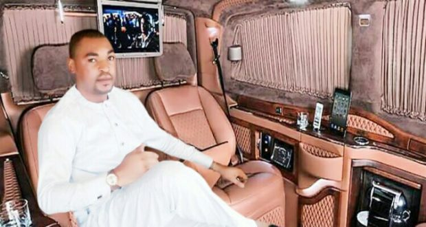 Echendu Ndubuisi Endy relaxing in one of his luxury cars.
