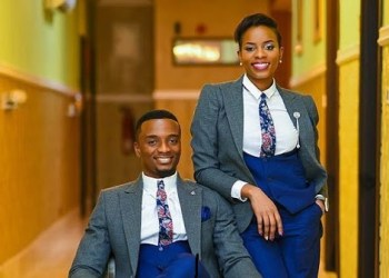 The lady serves as best man at her twin brother's wedding