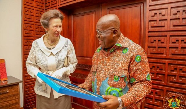 Her Royal Highness, Princess Anne paid a courtesy call on President Akufo Addo at the Flagstaff House.