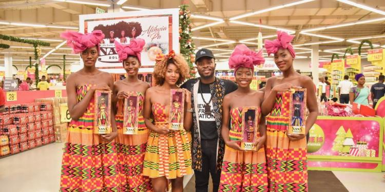 "PHOTOS: Fuse ODG launches beautiful line of black dolls, ""Nana Dolls"" at Game, Accra Mall"