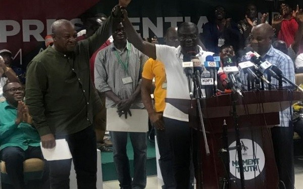 John Mahama pulled off a decisive victory by polling 95.24% of votes cast