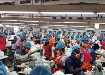 The production of Personal Protective Equipment (PPE) in Ghana commenced
