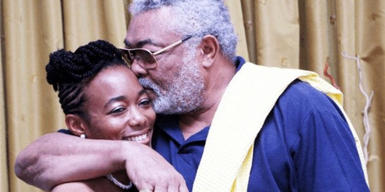 Former President, Jerry John Rawlings (r) and daugther, Dr. Zanetor