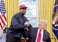 American rapper and billionaire Kanye West and President of US Donald Trump