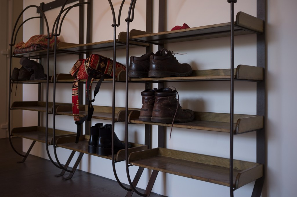 "Shoe racks from the <a href=""http://www.bournemouthvintageemporium.com/"">Vintage Emporium</a>"