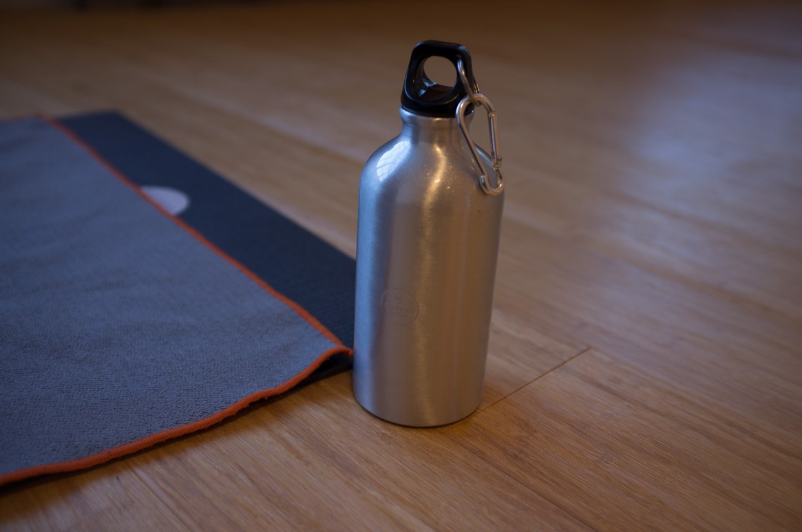A water bottle awaiting its forever home