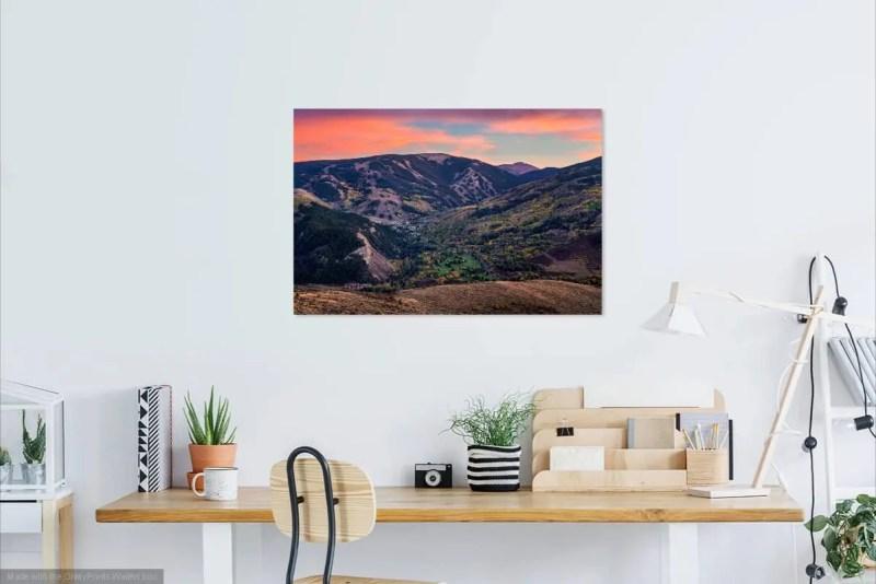 Sunset over Beaver Creek Colorado Fine Prints Wall Art