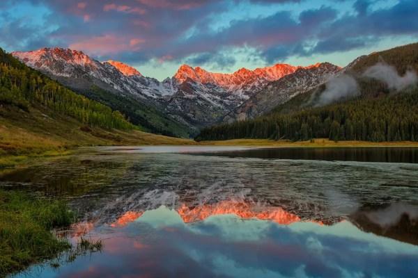Piney Lake Alpenglow Sunset Colorado Fine Prints Wall Art