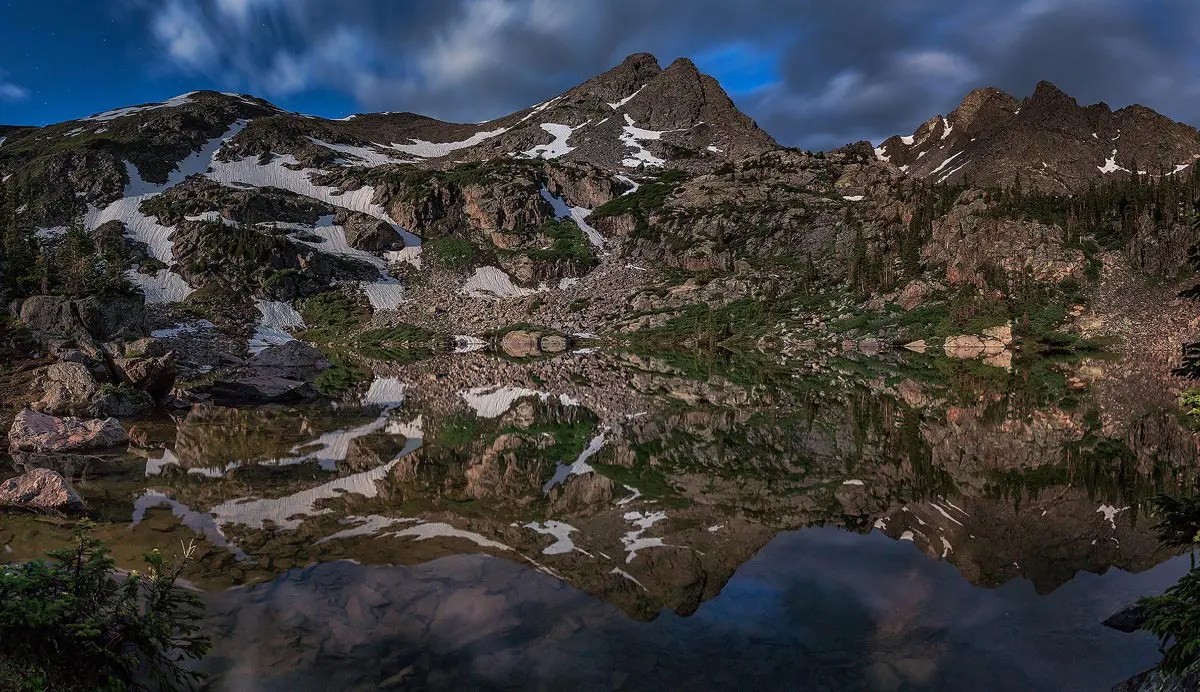 Fancy Lake, Holy Cross Wilderness, Coloradomage (1200px) - 20 Pictures from 2020 - Full Moon Fancy Lake