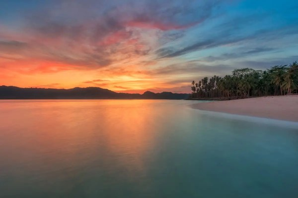 Tropical Island Sunset Philippines Fine Prints Wall Art