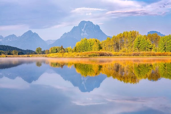 Mt Moran Fall Reflection