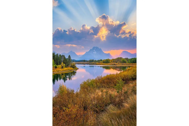 Sunrays Over Oxbow Bend Grand Teton National Park Wyoming