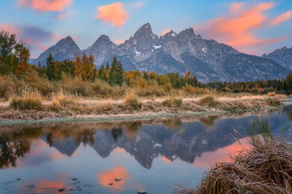 Schwabacher Landing Fall Sunrise Grand Teton National Park Wyoming
