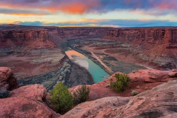 Sunset Over the Green River Canyonlands National Park Utah Shop Fine Prints Wall Art