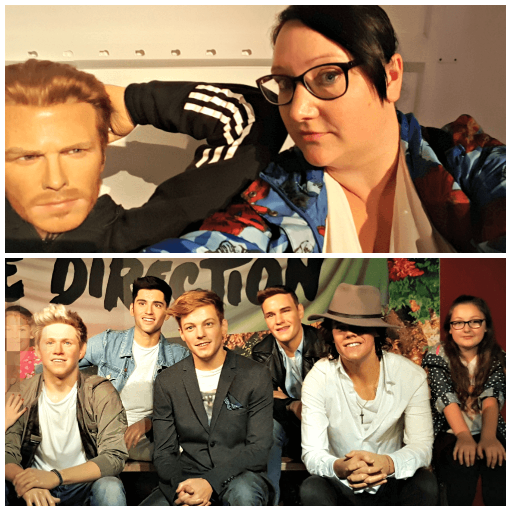 blackpool really does have it all picture of david beckham and one direction in madame tussauds blackpool