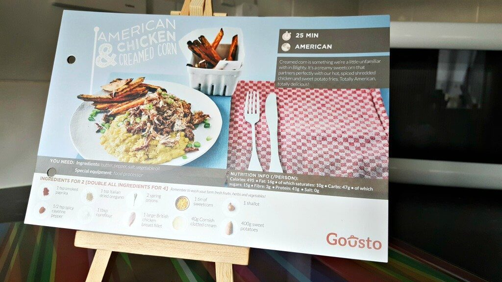 making good food easy with gousto recipe card