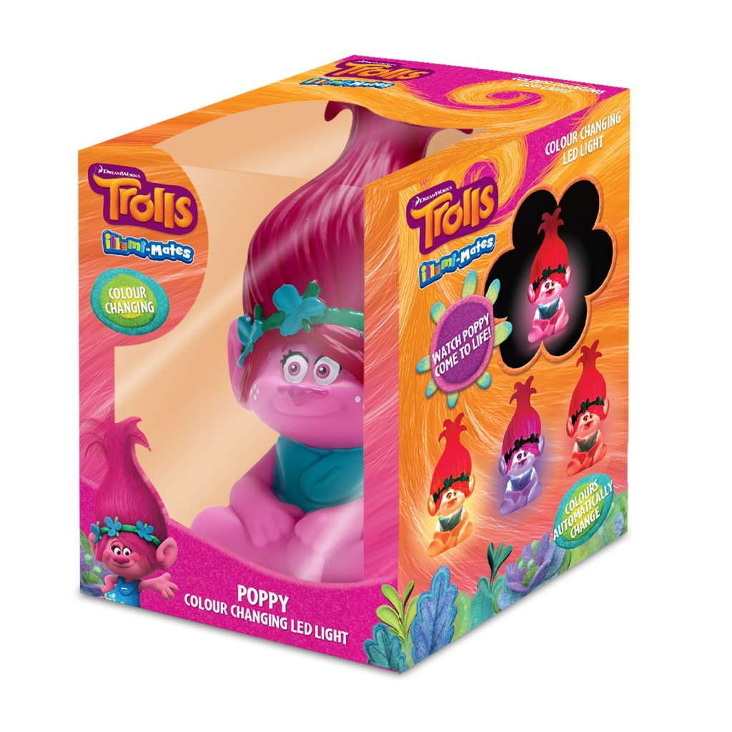 trolls poppy illumimate led light in box