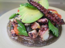 Grilled Octopus Tostata (our FAVORITE)