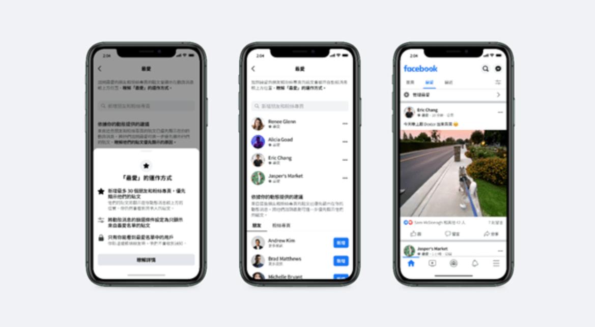 優先看到好友跟粉絲團動態!Facebook新功能追加30組「最愛」功能