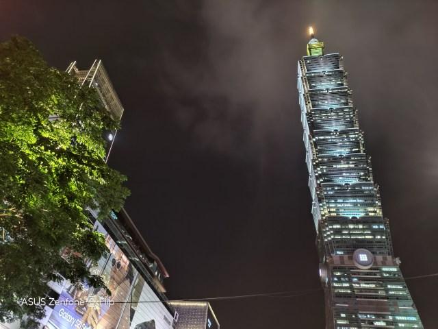華碩ZenFone Filp廣角夜拍