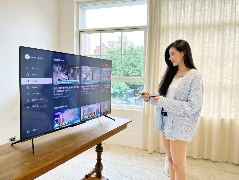 realme也有家電!50吋、55吋智慧電視與掃拖機器人低價登台