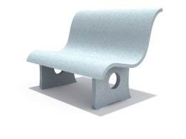 Concrete Bench Backrest